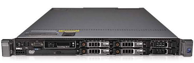 (б/у) 1U DELL PowerEdge R610 2*Intel Xeon E5630(4 Core, 2.53/2.8 GHz), 24Gb DDR3-8500R, Perc 6i/256, 6*no-HDD 2.5