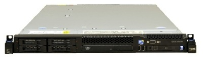 (б/у) 1U IBM x3550 M3 2*Intel Xeon E5645(6 Core, 2.4/2.67 GHz), 24Gb DDR3-10600R, M1015, 4*no-HDD 2.5