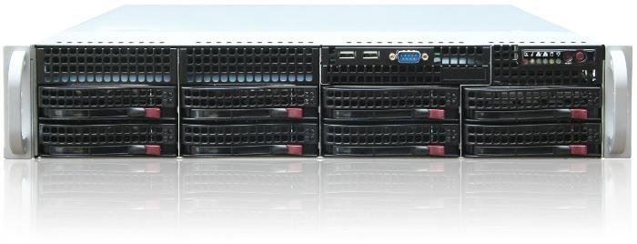 2U Supermicro  /CSE-825 TQ-R 2*740W / X10DRL / 2*Intel Xeon 2011-V4 Broadwell 10 core 2.1/2.5Ghz (или E5-2609V4 ) / 32Gb DDR4 2133ECC / LSI3108 2GB