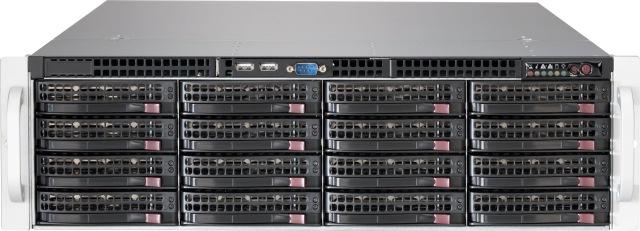 3U Supermicro Сервер хранения данных / CSE-836 2*920W / MBD-X11SSL / Intel Xeon E3-1225V5  / 16GB DDR4 2400 ECC  /HBA LSI Logic SAS 9211-8i