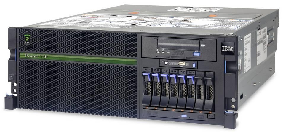 (б/у) 4U IBM Power 740 Express (8205-E6B) 2*IBM Power7 539F(8 core, 3,55GHz), 64Gb DDR3, 8*no-HDD 2.5