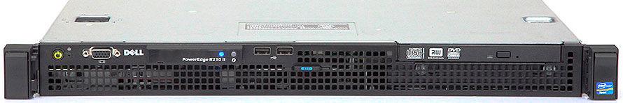 (б/у) 1U DELL PowerEdge R210_II Intel Xeon E3-1220 (4 Core, 3.1/3.4GHz), 4Gb DDR3, Perc S100, 2*no-HDD 3.5