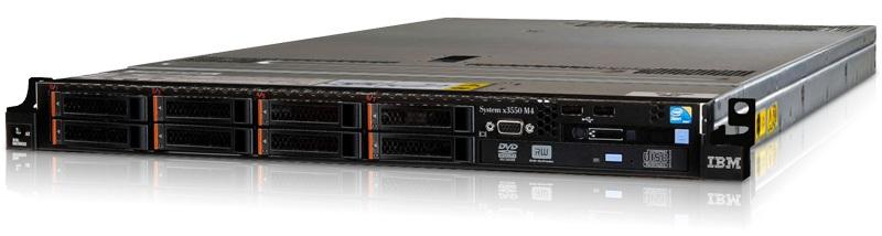 (б/у) 1U IBM x3550 M4 2*Intel Xeon E5-2660(8 Core, 2.2/3.0 GHz), 64Gb DDR3-10600R, M1015, 8*no-HDD 2.5