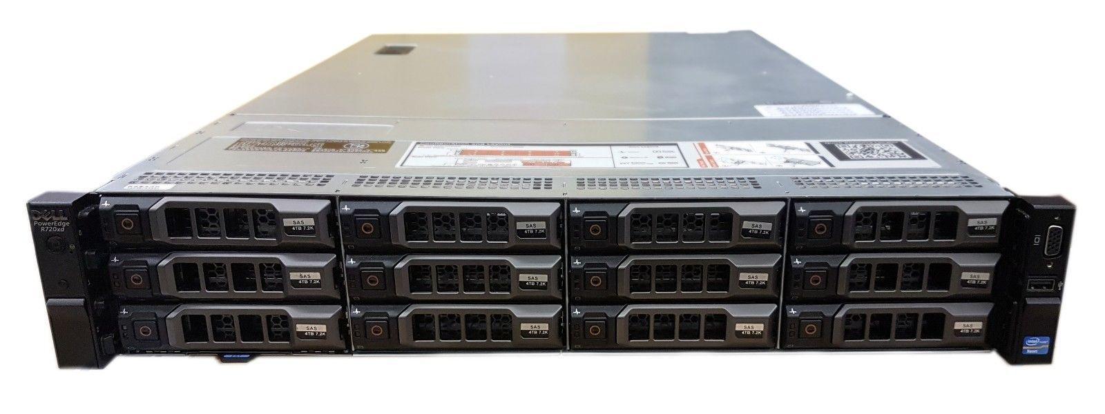 Сервер (б/у) DELL PowerEdge R720xd CPU 2х Intel Xeon E5-2630v2 2.6GHz-3.10GHz (6 cores, 12 threads, 15M Cache)