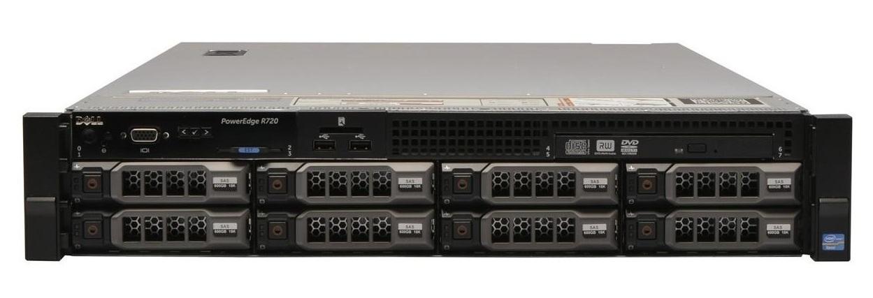 Сервер (б/у) Dell PowerEdge R720 CPU 2x Intel Xeon E5-2640 2.5GHz-3.0GHz (6 cores, 12 threads, 15M Cache)