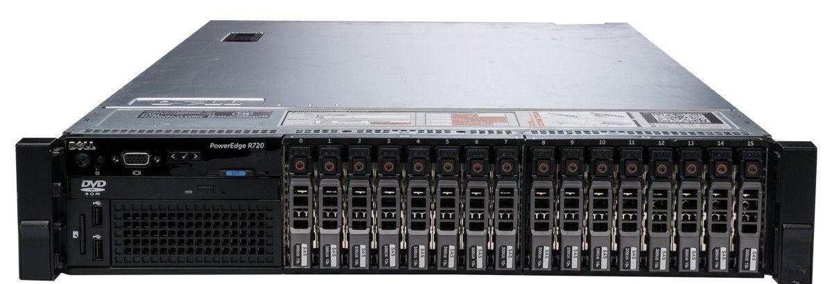 Сервер (б/у) Dell PowerEdge R720 CPU 2x Intel Xeon E5-2650 2.0GHz-2.8GHz (8 cores, 16 threads, 20M Cache)