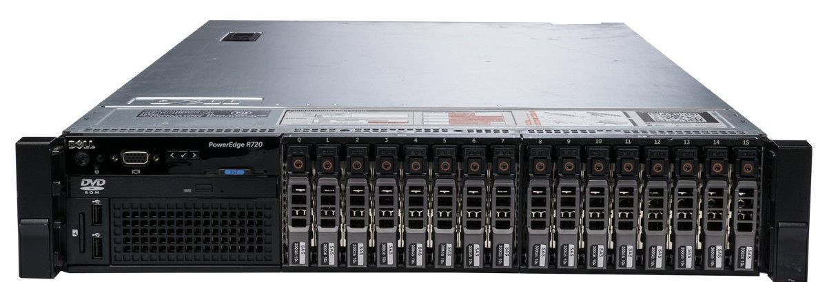 Сервер (б/у) Dell PowerEdge R720 CPU 2x Xeon E5-2667  2.9-3.5GHz (6 cores 12 threads)