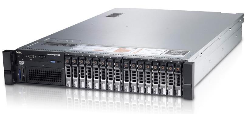 Сервер (б/у) Dell PowerEdge R720 CPU 2x Xeon E5-2670  2.6-3.0GHz (6 cores 12 threads)