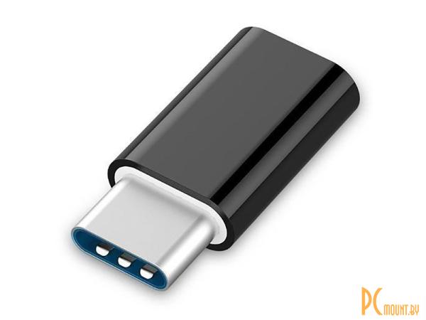 USB A/B/Micro/Mini/Type-C: Orient UC-201 USB micro-B f - Type-C M Black 30748