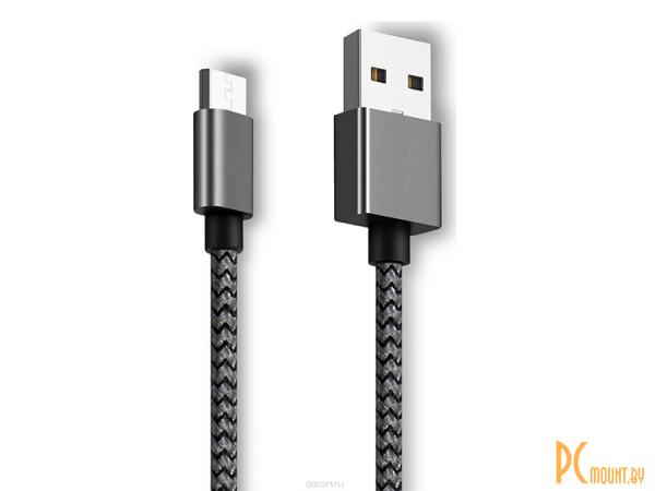 USB A/B/Micro/Mini/Type-C: Ginzzu USB - microUSB 25cm Black  GC-151B