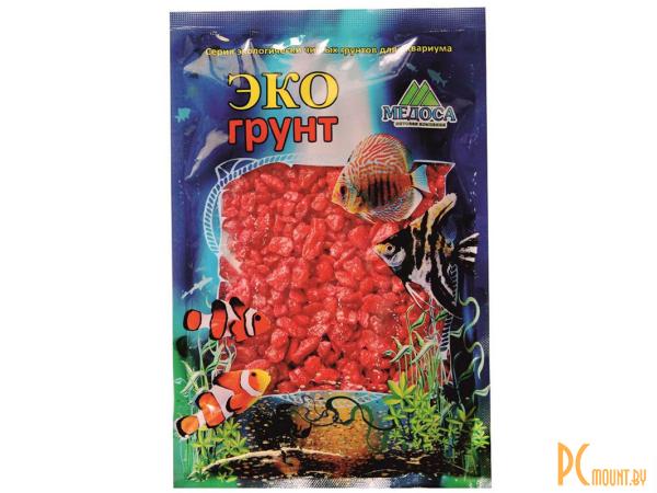 Грунты для аквариумов и террариумов: цветная мраморная крошка Эко грунт 5-10mm 7kg Red  7-1034