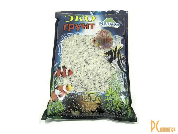 Грунты для аквариумов и террариумов: грунт-кварц Эко грунт Гавайи 2-4mm 3.5kg Black/White  г-0373