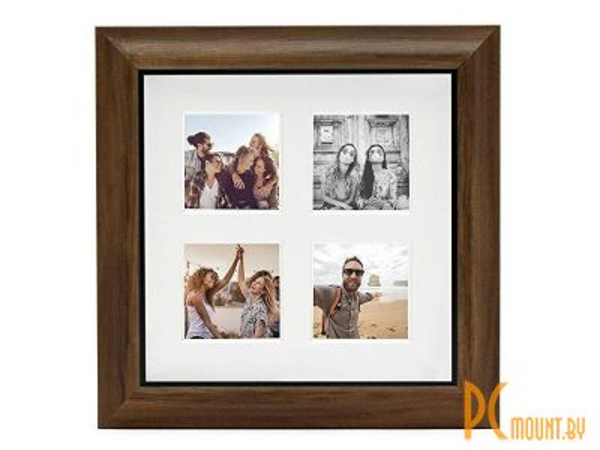 Фотоальбомы и фоторамки: рамка Fujifilm Instax 4 Mount Square Frame Teak  70100139131