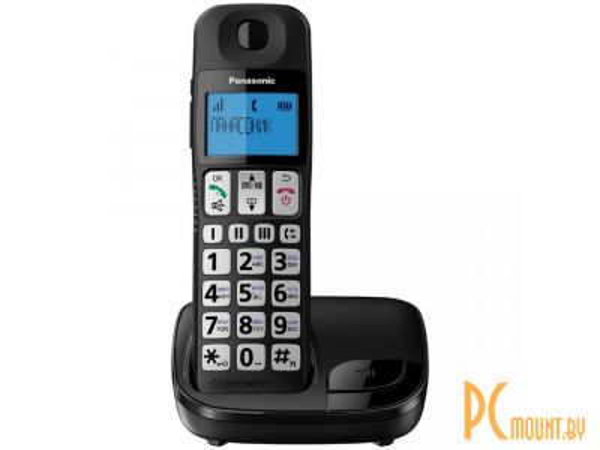 Радиотелефон DECT PANASONIC KX-TGE110RUB,чёрный 155284996