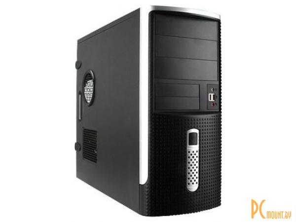 фото Inwin EAR001 450W T7, (TAC) 2.0, 8 cm PS FAN,  2*USB, Audio, (20+4 pin), Сталь 0,6 мм, (415x190x445 ), Midi Tower ATX, черно-серебристый