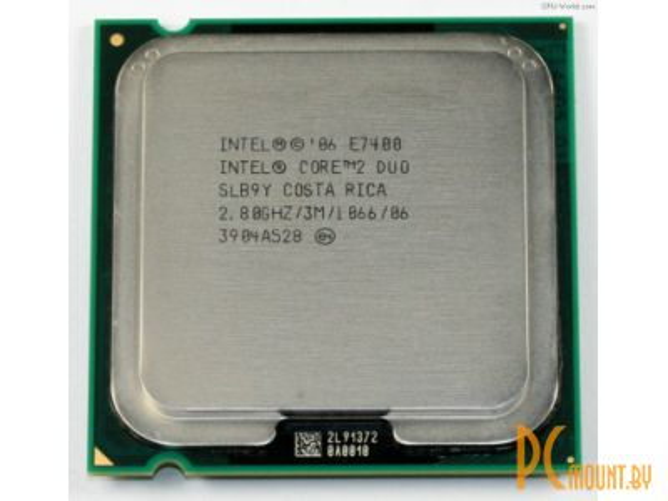 фото Процессор Intel, Soc-775, Core2Duo-E7400 (2.80GГГц, 3МБ, 1066МГц, EM64T) (OEM)