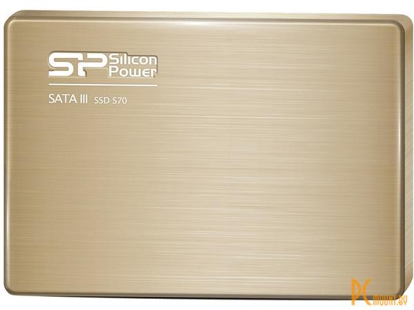 фото Диск SSD 60Gb, SSD, 2.5'', SATA-III, Silicon Power S70 60Gb Slim SP060GBSS3S70S25 7mm ультратонкий