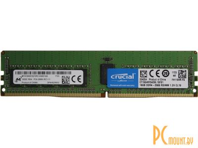 serverparts ram ddr4 16g 2666 crucial ct16g4rfd8266