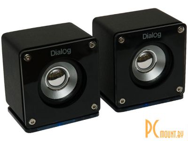 фото Dialog Colibri  AC-01BU  4W RMS -  2.0, МДФ черный, питание по USB, красивая подсветка