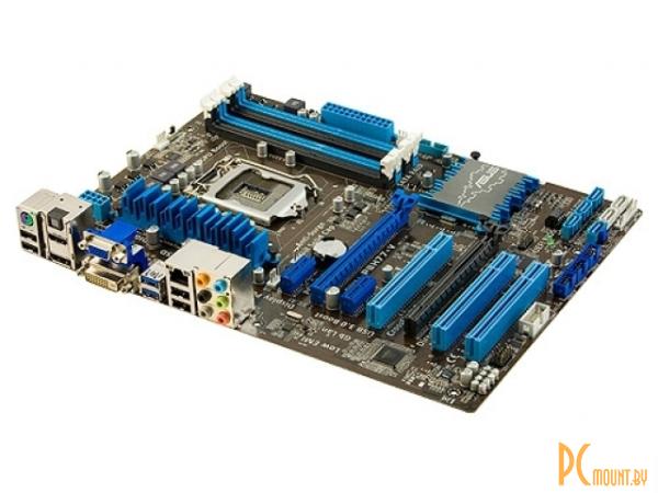 фото Asus, Soc-1155, P8H77-V, Intel H77, 4xDDR3 DIMM, 1066 - 2200 МГц, 2xPCI-E 16x, 2xPCI-E 1x, 3xPCI, CrossFireX, 4xSATA 3Gb/s, 2xSATA 6Gb/s: 4, RAID: 0, 1, 5, 10, звук 7.1CH HDA, 10xUSB 2,0, 4xUSB 3.0, выход S/PDIF, 1xCOM, D-Sub, DVI, DisplayPort, HDMI, Ethe