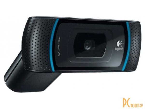 фото Logitech HD WebCam B910 (960-000684) (5MP, 1280x720, MIC, USB2.0, 1.5м шнур) RTL