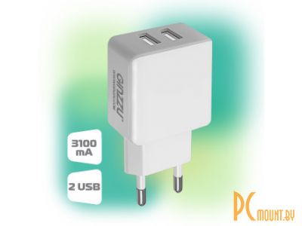smartaccs charger ginzzu ga-3311uw white