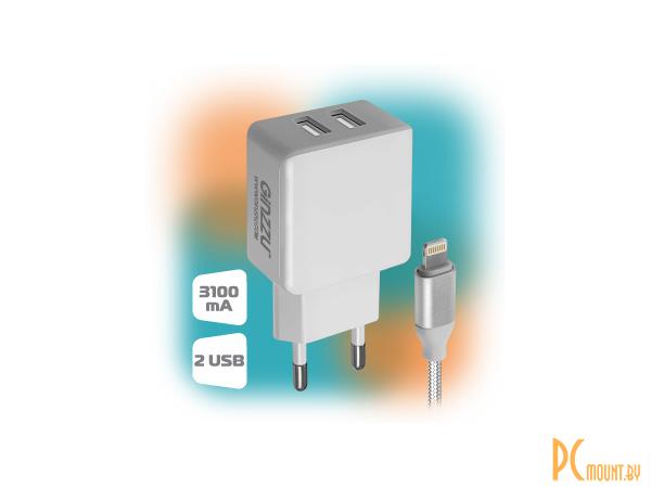 smartaccs charger ginzzu ga-3313uw white