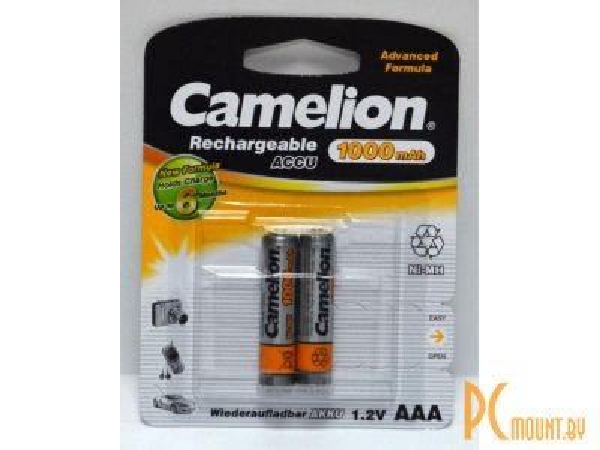 фото Аккумулятор Ni-MH CAMELION 1000mA, R03 (AAA), цена за упаковку 2 шт.