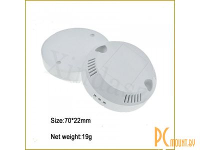 rc plastic enclosure round l38 72x25mm