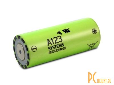 arduino battery 26650 a123 systems anr26650m1b
