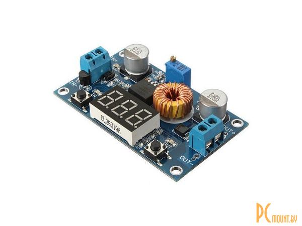 arduino module converter dc-dc xl4015+led voltmeter