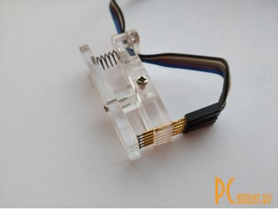 arduino tools probe pcb clip single-row 2-54mm 5p white-transparent