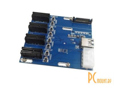 adapter converter pci-e x1 1-4port lpe-41x mining