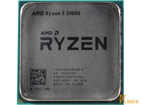 Процессор AMD Ryzen 5 3400G BOX Soc-AM4
