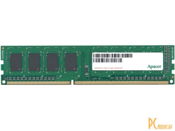 Память оперативная DDR3, 4GB, PC12800(1600MHz), Apacer AU04GFA60CATBGC