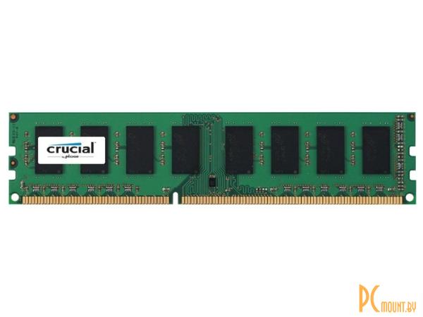 Память оперативная DDR3L, 4GB, PC12800(1600MHz), Crucial CT51264BD160B