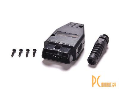 rc cn obd2 16p male black plastic cover