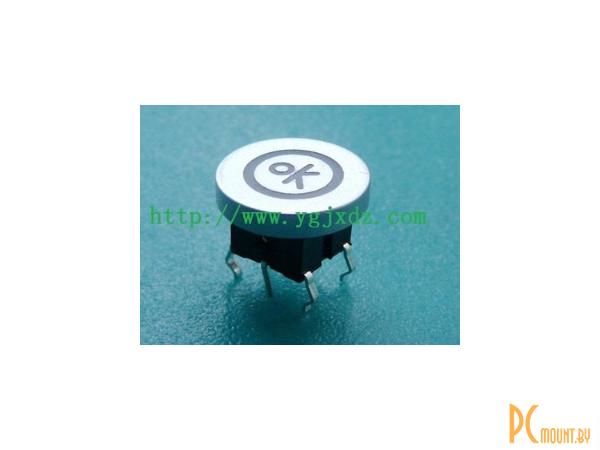 rc sw 1key+led button 6pin ok-circle