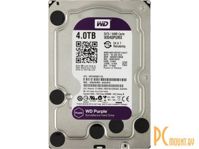 hdd wd 4000 wd40purx sata-iii server