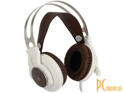 headphone a4 bloody g430 white-brown+microphone