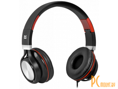 headphone defender accord-175 black-red+microphone