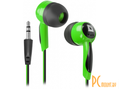 headphone defender basic-604 black-green 63607