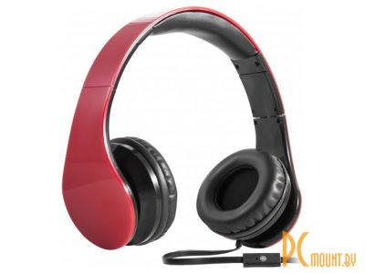 headphone defender hn-047 red+microphone