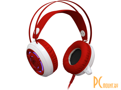 headphone redragon sapphire white-red 64206