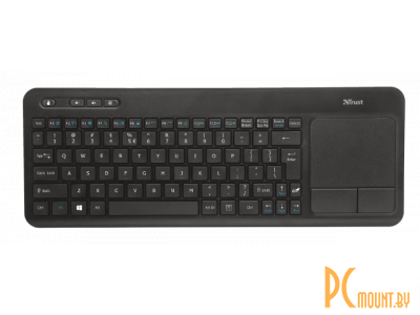 kbd trust veza wireless touchpad keyboard black usb