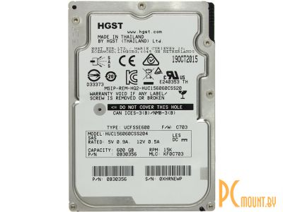 hddnb hitachi 600 huc156060css204 sas2-0 server