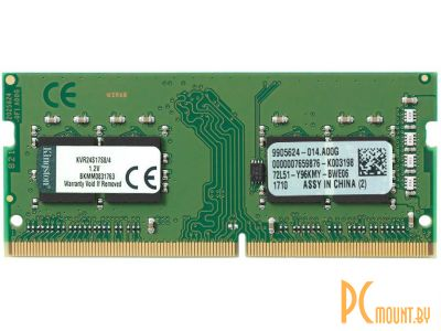 nbram ddr4 4g 2400 kingston kvr24s17s8-4