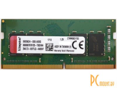 nbram ddr4 8g 2666 kingston kvr26s19s8-8