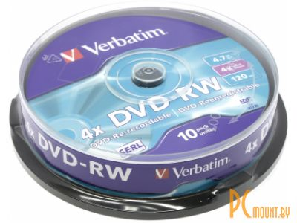 media dvd-rw verbatim 4x cake10