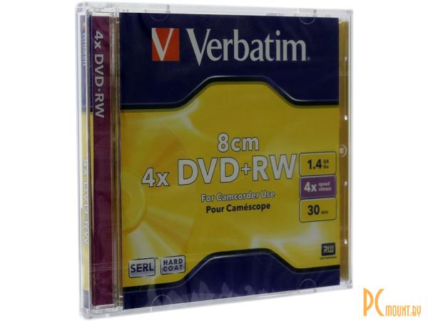 media dvd+rw mini verbatim 1g4 4x jewel1
